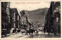 Ak Innsbruck Tirol Österreich, Maria Theresien Straße, Pferdekarren