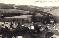 Postcard Aspang Niederösterreich, Panorama der Ortschaft, Felder