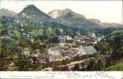 Postcard Bad Aussee Steiermark Österreich, Blick von Sixleithen