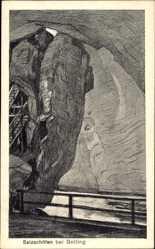 Künstler Ak Golling an der Salzach Salzburg, Salzachöfen, Höhle
