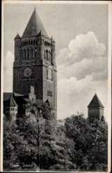 Postcard Poznań Posen, Ansicht vom Schloss, Turmuhr, Wartheland