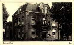 Postcard Epe Gelderland, Gemeentehuis, Gemeindehaus, Rankenwuchs