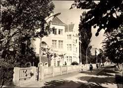 Postcard Ostseebad Bansin Heringsdorf auf Usedom, FDGB Erholungsheim Aufbau