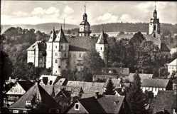 Postcard Schleusingen in Thüringen, Blick auf die Bertholdsburg und den Ort