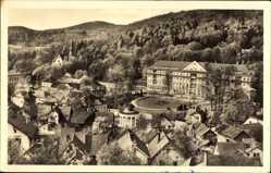 Postcard Bad Liebenstein im Wartburgkreis, Blick zum Kurhaus, Pavillon, Häuser