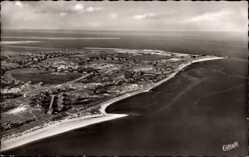 Postcard List auf Sylt, Blick auf den Ort, Meer, Strand, Fliegeraufnahme