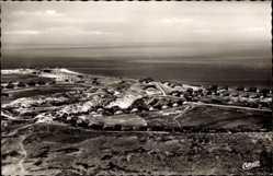 Postcard List auf Sylt, Blick auf den Ort, Meer, Häuser, Fliegeraufnahme