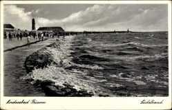 Postcard Büsum Kreis Dithmarschen, Partie am Südstrand, Leuchtturm, Meer