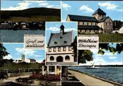 Postcard Mittelheim Oestrich Winkel im Rheingau Taunus Kreis, Romanische Basilika