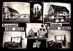 Postcard Bad Mergentheim in Tauberfranken, Kuranstalt Haus Alexa, Jürgen Schulz