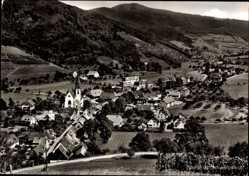 Postcard Glottertal im Breisgau Hochschwarzwald, Blick auf den Ort