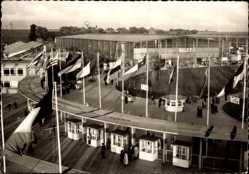 Postcard Hannover in Niedersachsen, Eingang zur Industrie Messe 1955, Halle 7