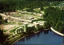 Postcard Remscheid im Bergischen Land, Fliegeraufnahme, Autobahn Raststätte