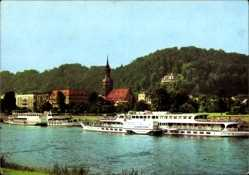 Postcard Bad Schandau an der Elbe, Elbdampfer Wilhelm Pieck