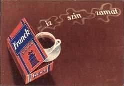 Ak Franck cikoriakave, Iz szin zamat, Ungarische Reklame, Kaffee