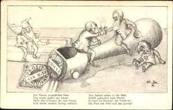 Künstler Ak Neujahr, 01 01 1911, Poststempel, Zwerge, Besonderes Datum