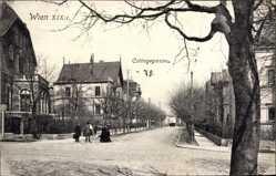Postcard Wien 19. Döbling Österreich, Cottagegasse 78, Straßenpartie, Passanten