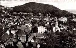 Postcard Lindenfels im Odenwald Hessen, Blick von der Burg auf den Ort