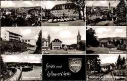 Postcard Wipperfürth im Oberbergischen Kreis, Rathaus, Krankenhaus, Erholungsheim