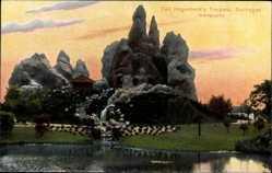 Postcard Hamburg Eimsbüttel Stellingen, Carl Hagenbecks Tierpark, Gebirgspartie