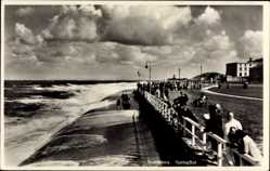 Postcard Norderney in Ostfriesland, Gäste am Strand, Springflut