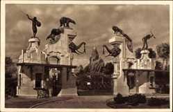 Postcard Hamburg Eimsbüttel Stellingen, Carl Hagenbecks Tierpark, Haupteingang