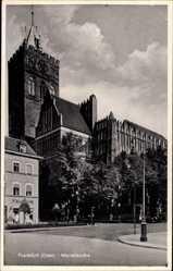 Postcard Frankfurt an der Oder, Partie an der Marienkirche