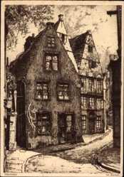 Künstler Ak Hansestadt Bremen, Blick in die Altstadt, Schumacher