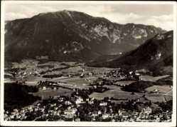 Postcard Bad Reichenhall in Oberbayern, Gesamtansicht mit Blick zu den Alpen