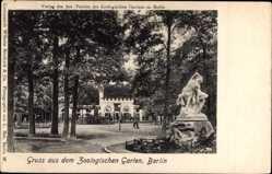 Postcard Berlin Tiergarten, Zoologischer Garten, Zentaurstatue