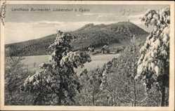 Postcard Lückendorf Oybin in Sachsen, Landhaus Burmester im Winter, Schnee