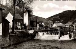 Postcard Steinwiesen in Oberfranken, Partie an der Bayers Wehr