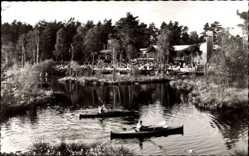 Postcard Gifhorn in Niedersachsen, Kurhaus und Pavillon Am Heidensee