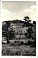 Postcard Lügde im Weserbergland, Bergstätte Köterberg, Zaun