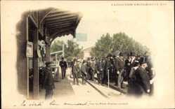 Cp Paris, Expo, Weltausstellung 1900, Sur la Plateforme