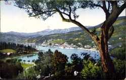 Ak Gruz Dubrovnik Kroatien, Panorama, Ort am Wasser, Purger 10627