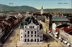 Postcard Košice Kassa Kaschau Slowakei, Szinhaz a föterrel, Theater