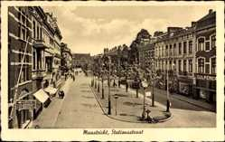 Postcard Maastricht Limburg Niederlande, Stationsstraat, Bahnhofstraße