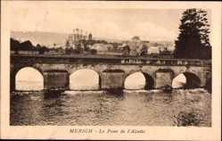 Postcard Mersch Luxemburg, Le Pont de l'Alzette, Flussbrücke