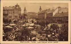 Postcard Poszony Pressburg Bratislava Slowakei, Namestie Republiky, Marktplatz