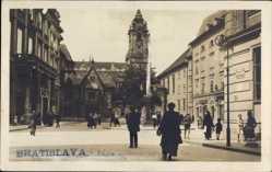 Postcard Poszony Pressburg Bratislava Slowakei, Primatialplatz, Rathaus