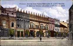 Postcard Eperjes Prešov Preschau Slowakei, Dvorny dom Franca Rakoczyho II.