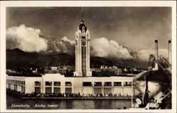 Postcard Honolulu Hawaii USA, Aloha Tower, Turmuhr, Hafen