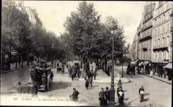 Ak Paris, Le Boulevard Saint Martin, Straßenszene, Straßenverkehr