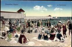 Postcard Sopot Gdańsk Zoppot Danzig, Im Familienbad, Strandbesucher