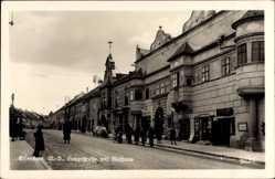 Postcard Eisenstadt Burgenland Österreich, Blick in die Hauptstraße mit Rathaus