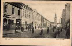 Postcard Pardubice Pardubitz Stadt, Zelene predmestie, Kirche, Kalvoda
