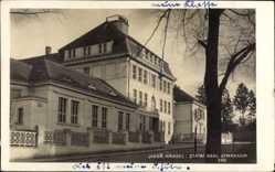 Postcard Jindřichův Hradec Neuhaus Südböhmen, Statni Real Gymnasium