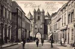 Postcard Bergen op Zoom Nordbrabant Niederlande, Lievevrouwestraat, Tor