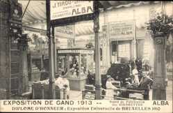 Postcard Gent Ostflandern, Exposition 1913, Stand de Fabrication des Cigarettes